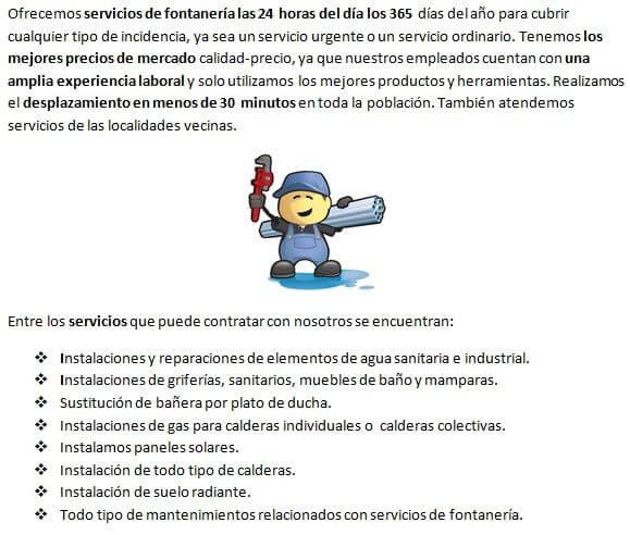 Fontaneros Villanueva de la Torre, servicios de reparación de goteras